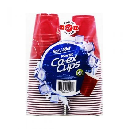 9OZ 50PCS RED...